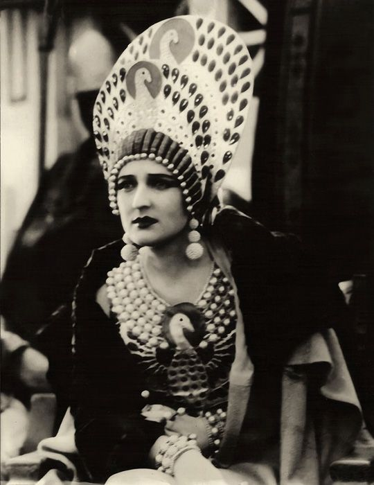 1925....Carmel Myers in Ben Hur...peacock costume designed by  Erté....wow...