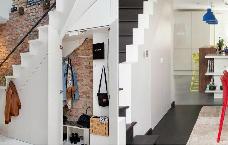 29 best salon images on Pinterest Home ideas, Living room ideas - porte de placard sous escalier