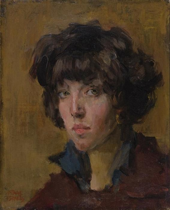 Portrait of a girl by Isaac Israëls - The Netherlands