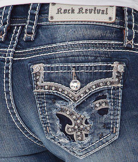 Rock Revival Iselin Mid-Rise Skinny Stretch Jean - Women's Jeans | Buckle