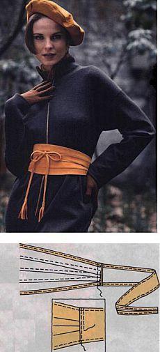 Cinturón obi con sus manos