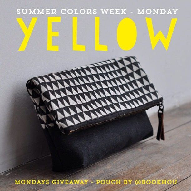 Come join our Summer Colors Week were hosting on Instagram this week - http://instagram.com/... - Each day there is a prize to be won. Mondays Color is Yellow and the prize up for grabs is a beautiful hand printed pouch from http://Bookhou.com - http://instagram.com/... - click on the image for more info. #summercolors13