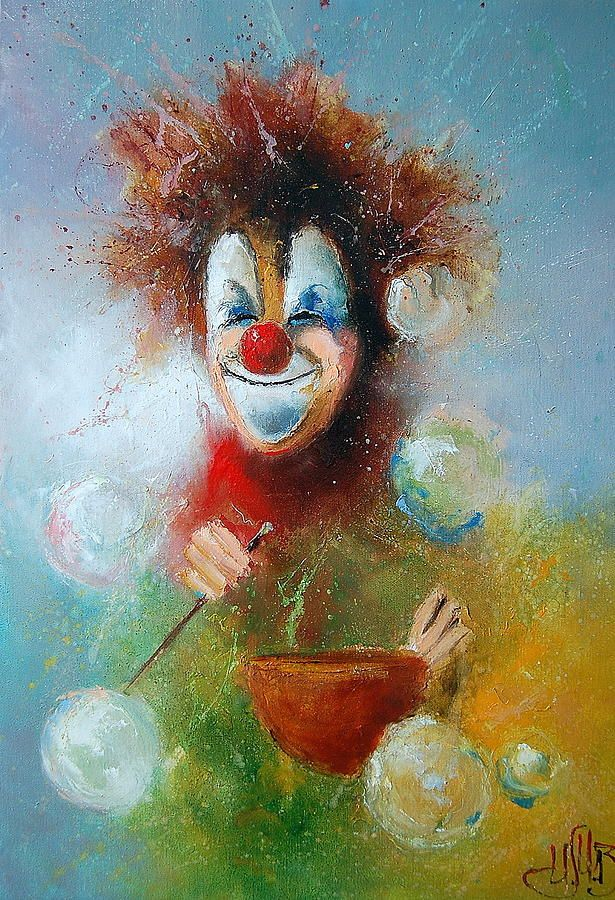 Russian Artists New Wave Painting - In Good Mood by Igor Medvedev