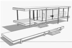 farnsworth house plan - Google Search                                                                                                                                                                                 Más