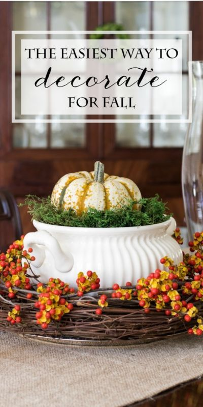 The Easiest Way to Decorate for Fall | Tips and budget-friendly tricks for adding touches of autumn to your decor. #Sponsored