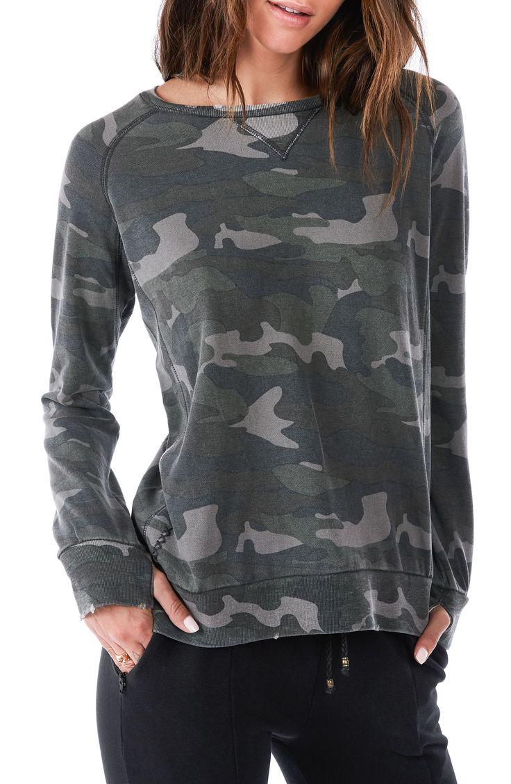 Distressed Camo Sweatshirt
