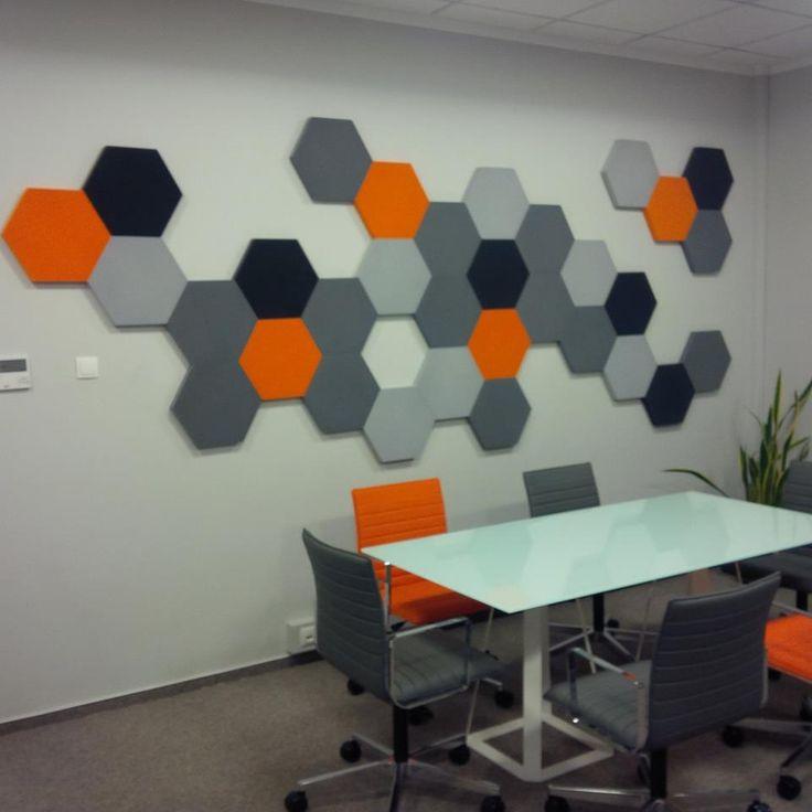 Projekt i realizacja DREAM HOUSE PROJECT. Panele Hexa w biurze.