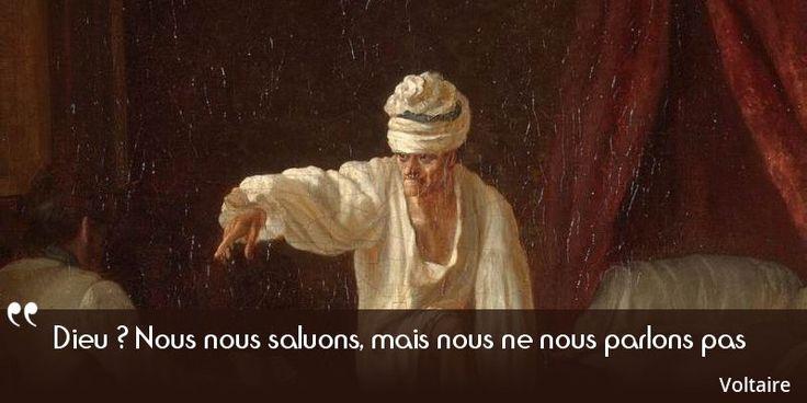 Aujourd'hui sur notre site: Voltaire et Dieu, une relation très particulière. Il se déclare déiste et non athée