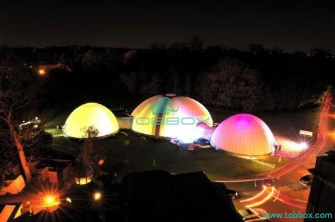 the inflatable dome structure tents