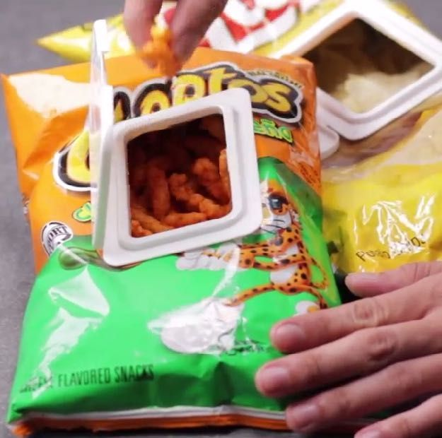 DIY Chip Bag Hack | Genius Idea For Easy Snacking On The Go