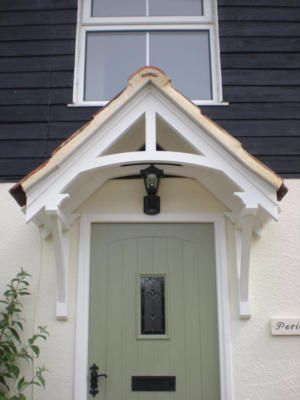 Period timber canopy, wooden front door porch VER120/50 - this one is particularly nice