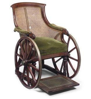 A Victorian Mahogany Bergere Invalid S Wheel Chair Mid