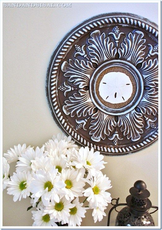 Sand dollar ceiling medallion art (2) (729x1024)[1]