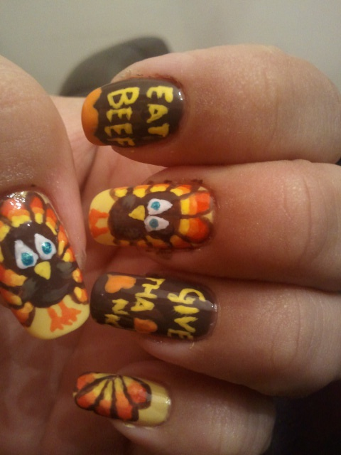 Happy Thanksgiving Nails In this post, we tried our best to provide you the  collection of Thanksgiving nail art designs, Thanksgiving nail designs - 72 Best Thanksgiving Nail Designs Images On Pinterest Autumn Nails