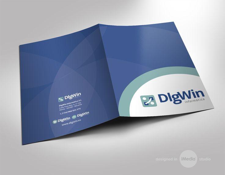 #diseño #carpetas e impresión para la empresa DlgWin de Denia, Alicante