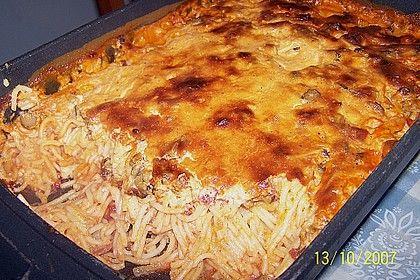 Würziger Spaghettiauflauf
