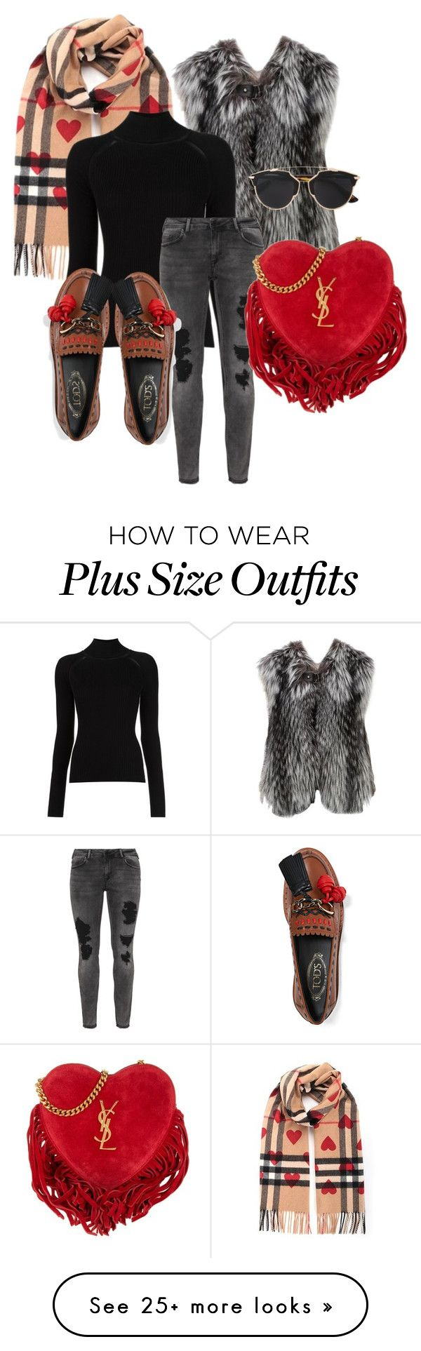 """""""Winter III"""" by beatricechan on Polyvore featuring Burberry, Louis Vuitton, Misha Nonoo, Zizzi, Tod's, Yves Saint Laurent and Christian Dior"""