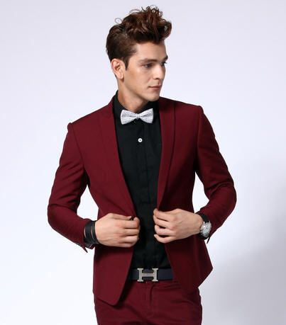 Red dress jacket mens gold rings