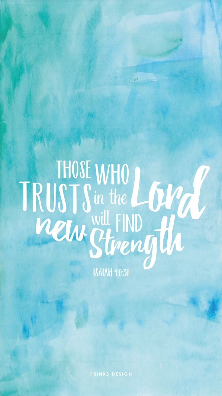 freebiesfriday / bible verse / book of isaiah / strength / typography / watercolour / wallpaper for iphone