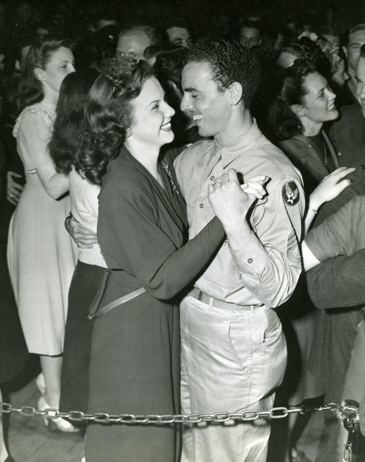 Deanna Durbin Dances With An Air Cadet at the Hollywood Canteen