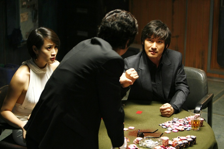 KIM Hye-soo (left) and CHO Seung-woo (right) in TAZZA: THE HIGH ROLLERS (Tajja, 타짜, The War of Flowers). Available on R1 DVD - Sept. 18, 2012. Tazza: The High Rollers © 2006 CJ Entertainment Inc. and IM Pictures Corp.