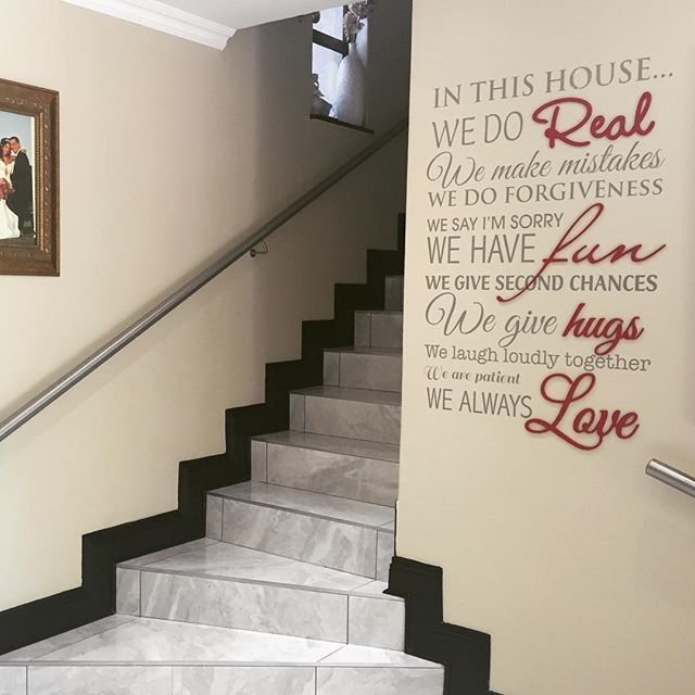 Another great spot for our Home Rules design.   #lovecocodecor #wallart #homerules #homeinterior #interiors #decor #family #inthishouse