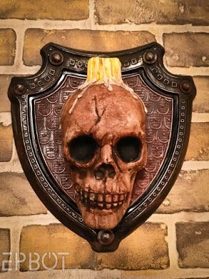 🕷 DIY Skull Sconces For Halloween And/Or Your Guest Room for under