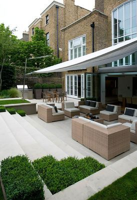 URBAN CONTEMPORARY MODERN MINIMALIST GARDEN AND TERRACE DESIGNED BY CHARLOTTE SANDERSON