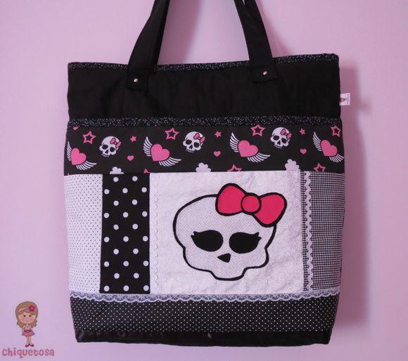 Bolsa patchwork Monster High. Loja: www.elo7.com.br/chiquetosa