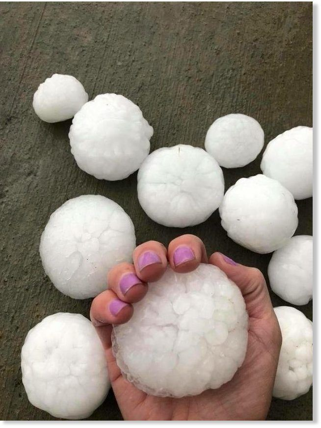 A hail storm is causing damage across northern Colorado