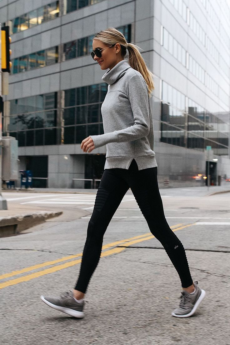 cfa93b8ed7000 what to wear with moto leggings 50+ best outfits   ATHLEISURE ...