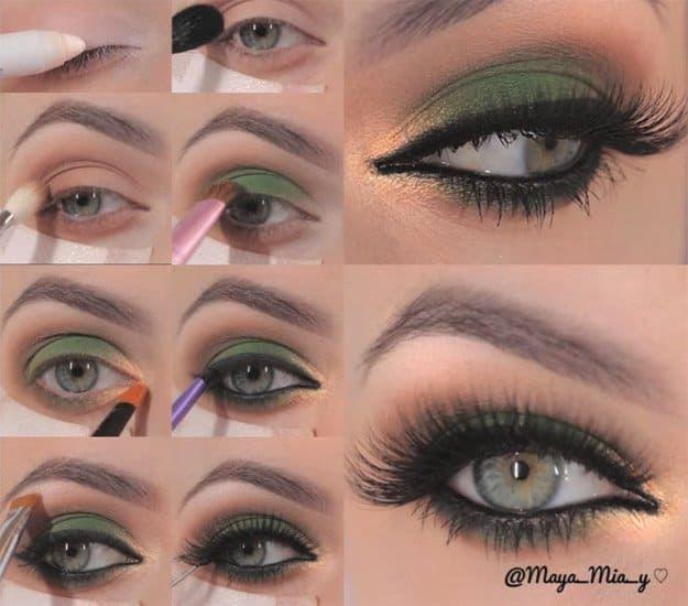Green & Gold Smokey Eye Makeup   16 Wearable St. Patrick's Day Makeup Tutorials