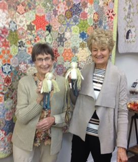 Two little blonde 'Lilys' just waiting to be dressed - after my Lily and Friends workshop at Cutting Cloth on Saturday