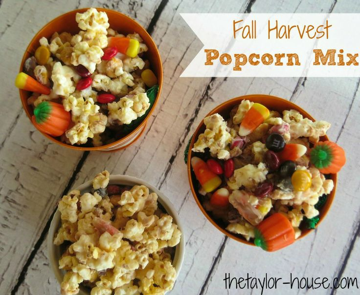 ... Mix: Candy coated Popcorn full of yummy candy treats. #Halloween #