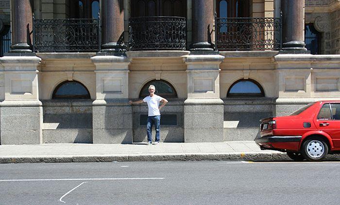 THE CITY HALL BALCONY, SCENE OF NELSON MANDELA'S FREEDOM SPEECH.