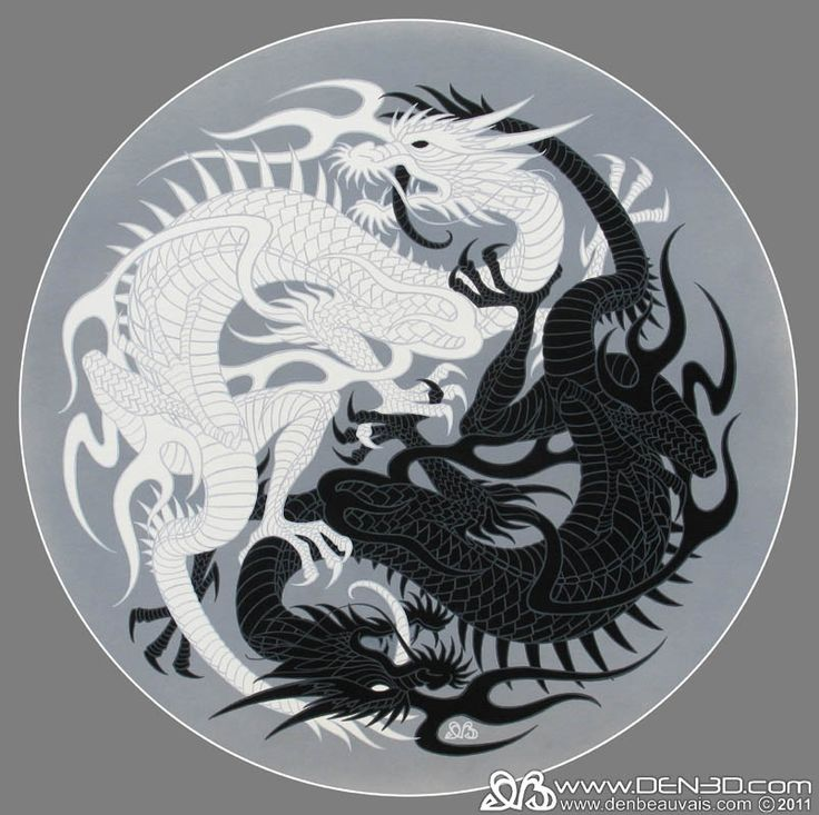 Taoism Symbols Dragon: °Yin&Yang Dragons By DenBeauvais