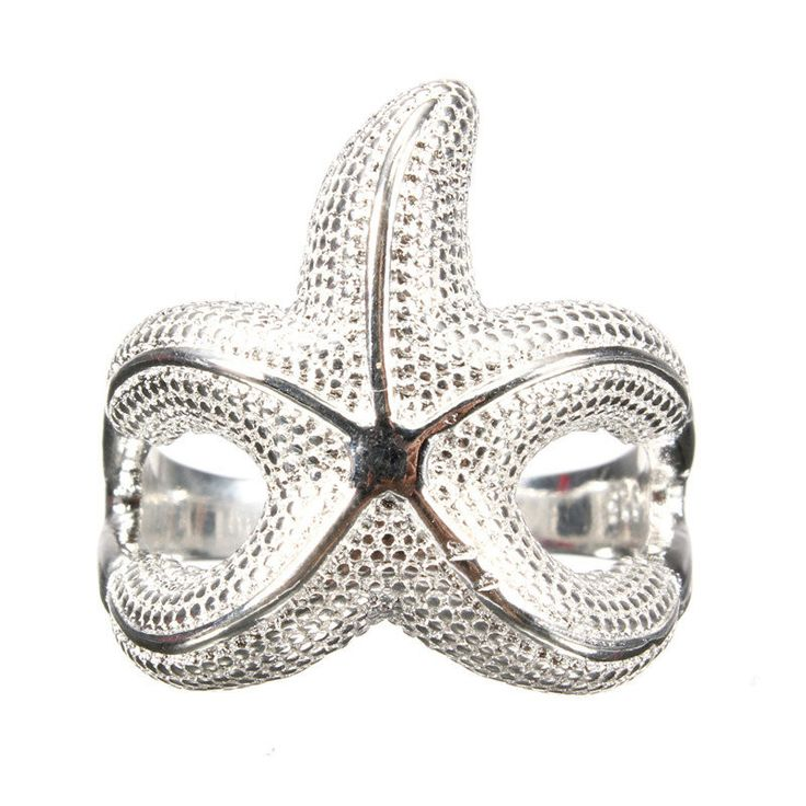 Alloy Silver Starfish Finger Ring