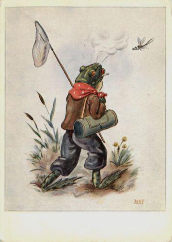 Флэш открытки, винтажные открытки лягушки