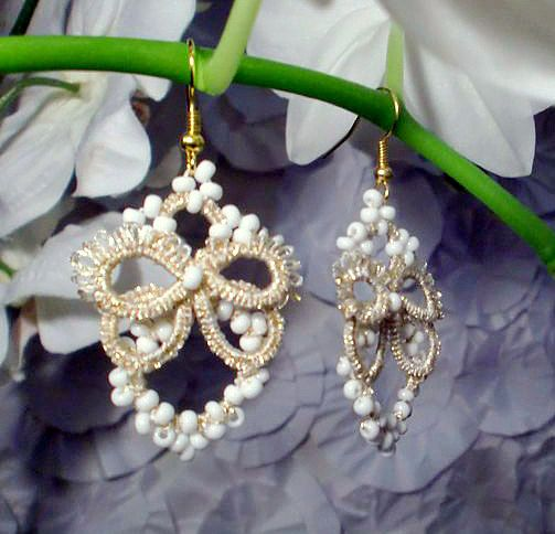 1000 Images About Tatting Earrings On Pinterest