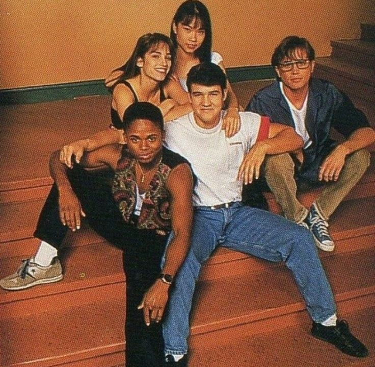 Walter Jones, Amy Jo Johnson, Thuy Trang, Austin St.John, and David Yost