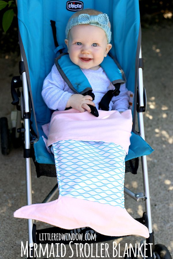 """Sew your little one a sweet mermaid stroller blanket! A couple weeks ago, my friend Lisa messaged me with a link to a mermaid blanket and said, """"you should make one of these!"""" It was actually a crochet pattern and it was really cute. And so I thought about translating it to knit but if…"""