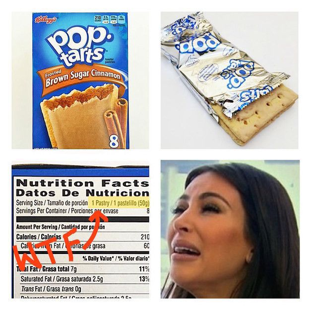 What's considered a single serving on a nutrition label is not always what a reasonable human person would eat in one sitting. Some examples: A serving of bread is often a single slice (wtf). One serving of Pringles is 15 chips (lol). One serving of Pop-Tarts is a single Pop-Tart (no). Basically, make sure that you're looking at the nutrition info for the amount you actually eat.