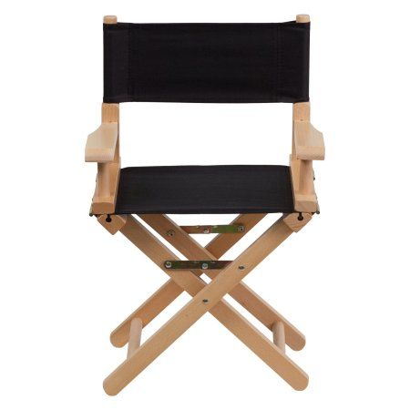 Flash Furniture Kid Size Director's Chair, Multiple Colors, Black