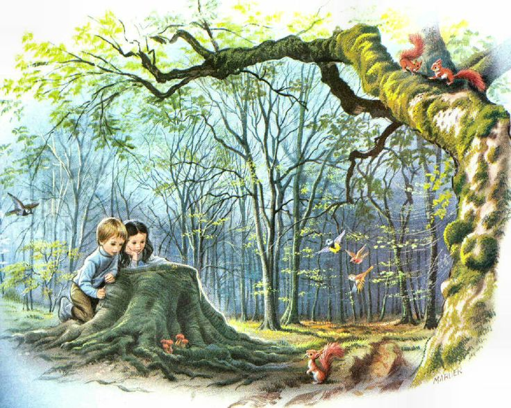 Mark and Michelle in the Forest ~ Marcel Marlier