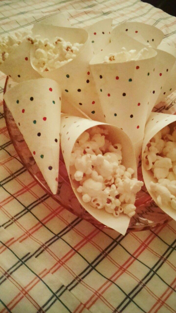 Paper cones for parties