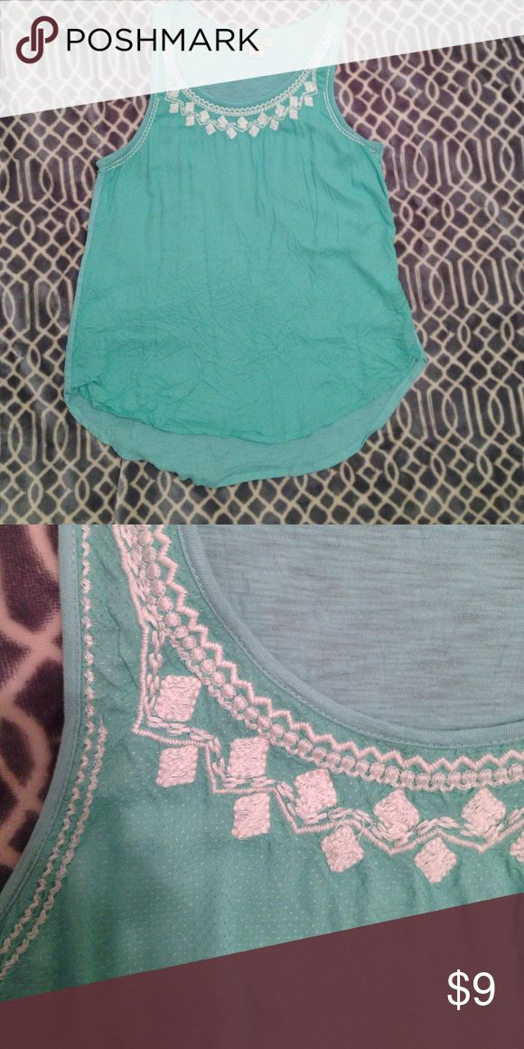 Lucky Brand tank top Beautiful embroidered tank Lucky Brand Tops Tank Tops
