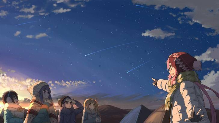 Shooting Stars Yuru Camp 1920x1080 Inuyama Anime Camping