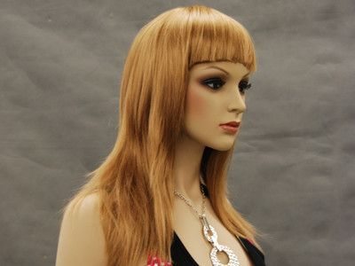 Long Light Brown Wig with Bangs