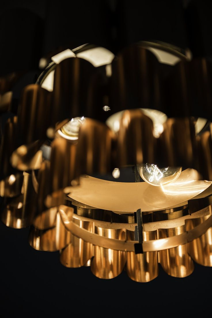 Werner Schou ceiling lamps in brass by Coronell at Studio Schalling