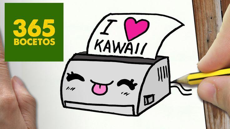 COMO DIBUJAR IMPRESORA KAWAII PASO A PASO - Dibujos kawaii faciles - How...